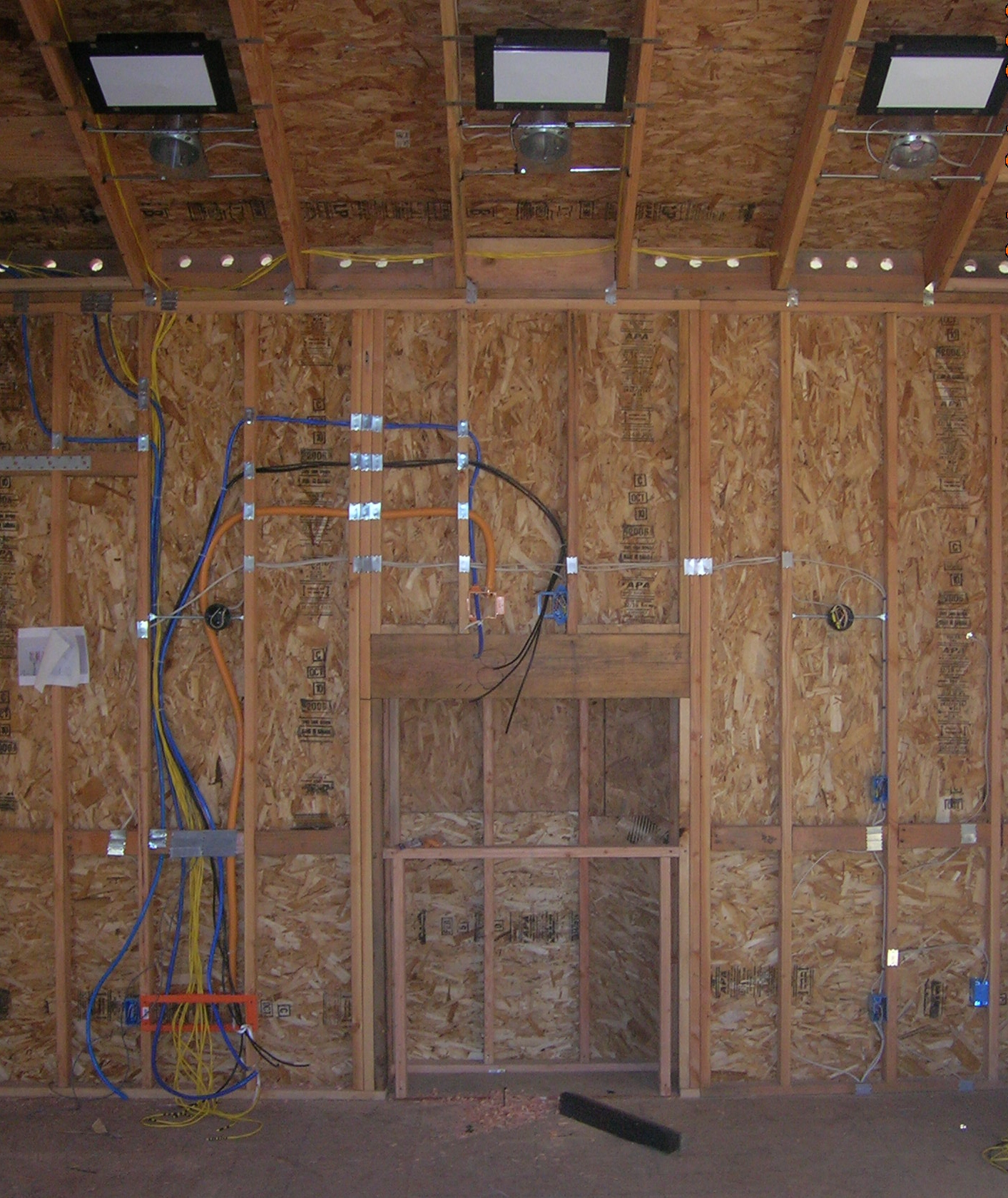 Home Theater Prewire Over Fireplace In Saratoga Ca Mw Electrical Wiring House 408 228 2597