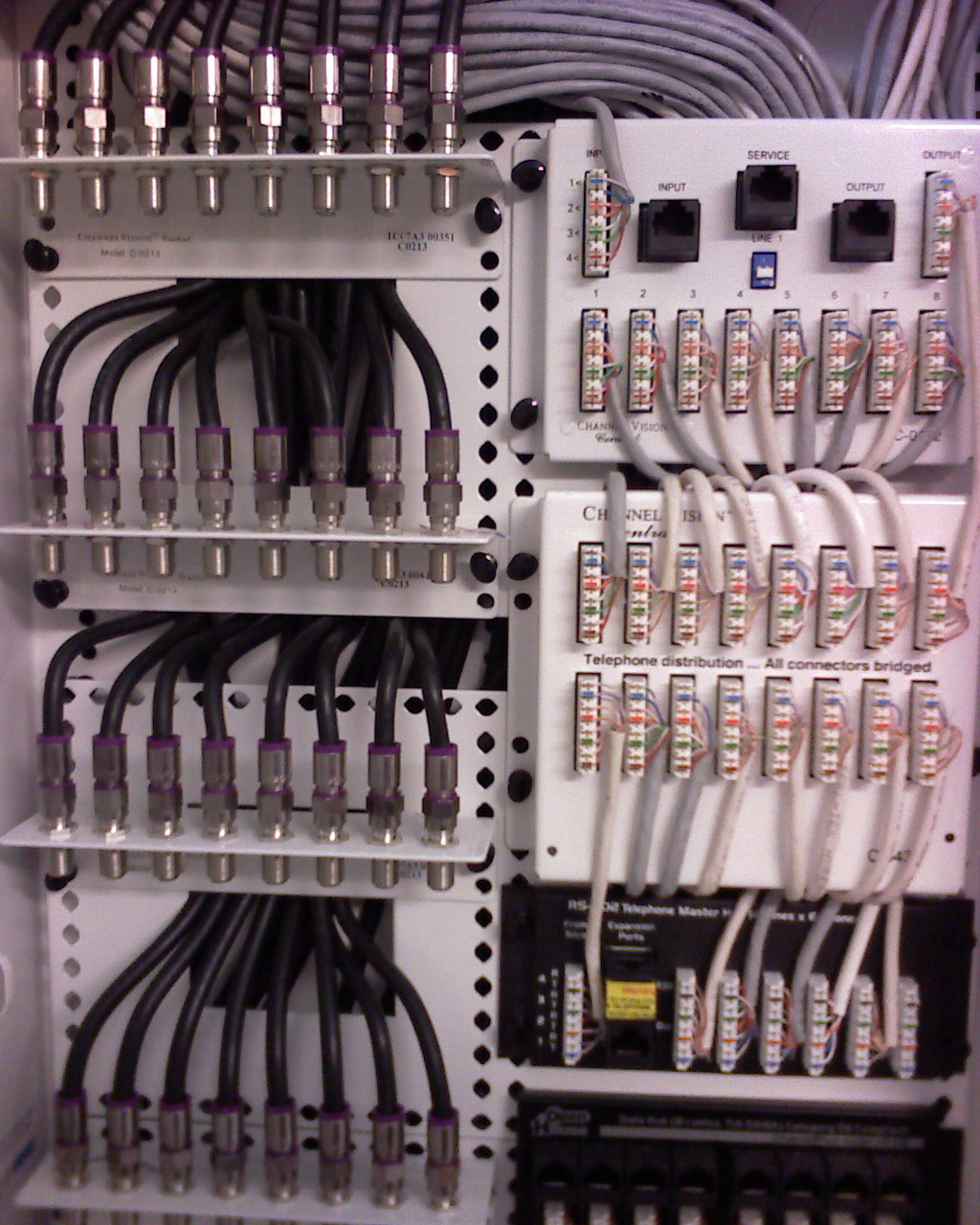 27 zone structured wire panel install in san jose mw home video and voice distribution