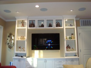 Home Theater TV with Left, Right and Center in Ceiling Speakers