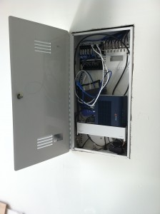 Structured wire panel, Telco panel in garage in Dublin, Ca - mwhomewiring.com