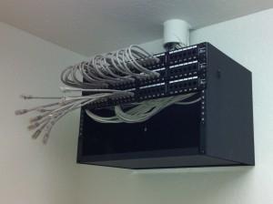Wall mounted 6U rack