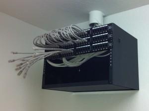 Wall mounted 6U rack