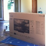 Unboxing of an 80 Inch Sharp LC-80LE632U