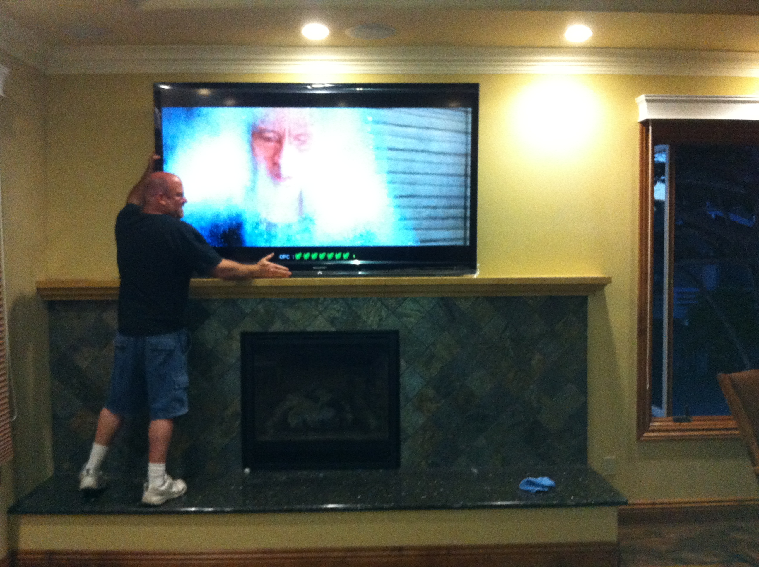 Mw Home Wiring Cable Tv Installation Over Fireplace