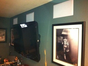 LED Flat Panel with In Wall Left Center and Right