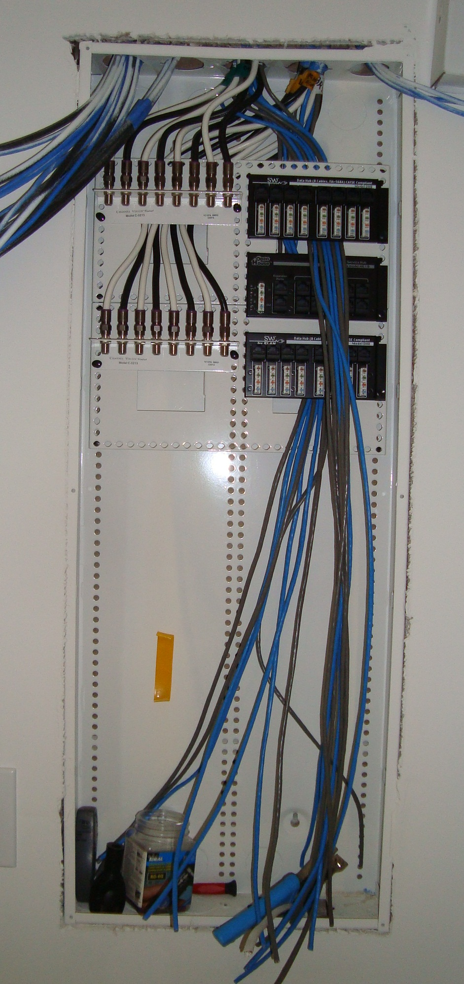 8 Zone Structured Wire Panel In Process Of Being Terminated Mw Low Voltage House Wiring 50 Done