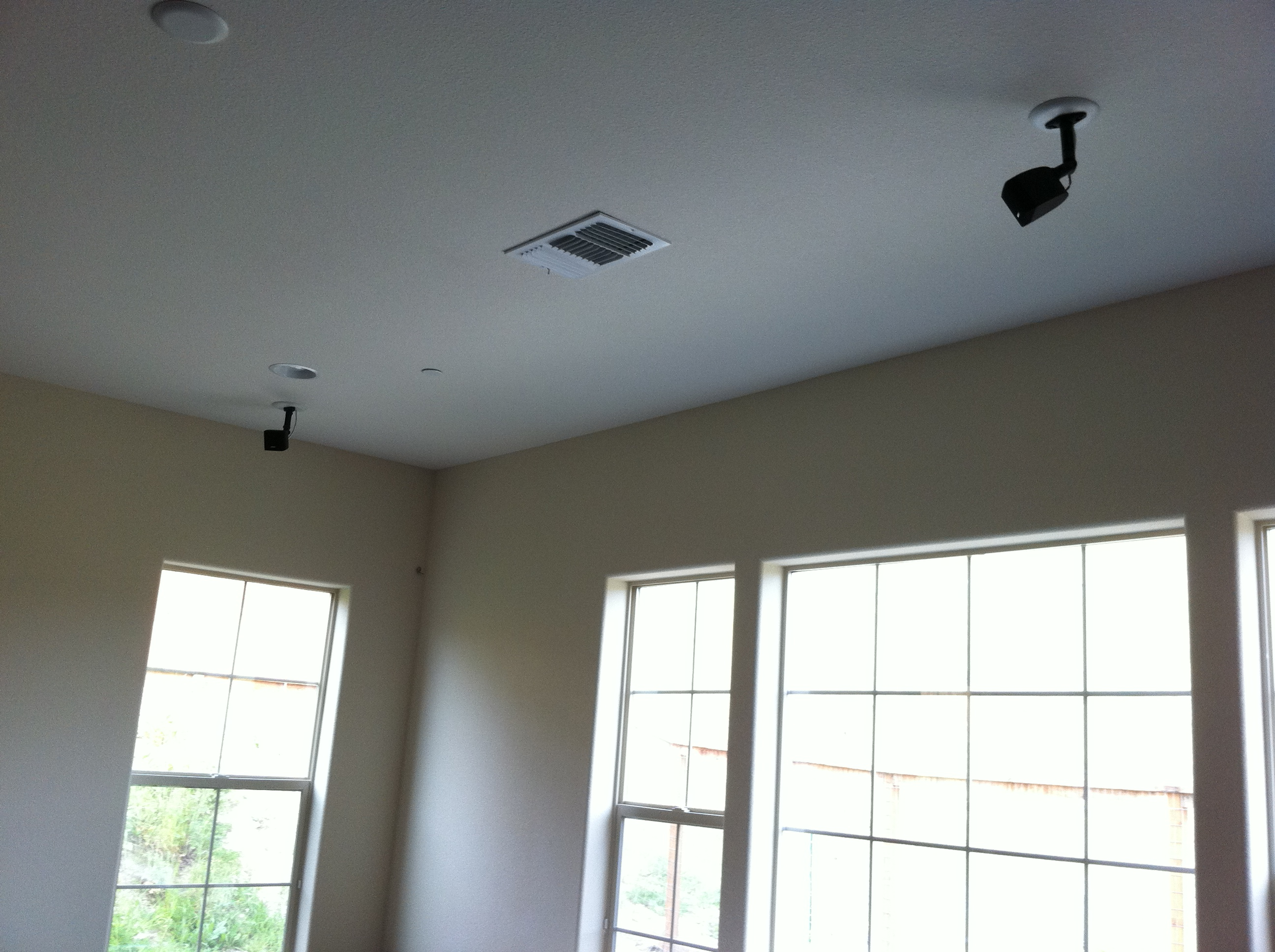 In Ceiling Speaker Installation Mw Home Entertainment Wiring Light Bose Satellite Lifestyle Rear Speakers Installed